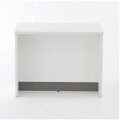 画像2: ノルム ローカウンターII W900×D600 ダーク 木製 受付カウンター 対面式カウンターデスク Z-SHLC-900DB2