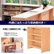 画像3: カウンター W900×D450 木製 受付カウンターGarage fantoni ハイカウンター オフィス家具 (3)