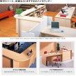 画像5: ハイカウンター W1200×D450 高さ950mm 受付カウンター 木目 fantoni オフィス家具 おしゃれ (5)