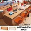 画像1: ■7/9在庫切:カウンター W1200×D800 オフィス家具 Garage 木製 受付カウンター 木目 (1)