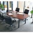 画像6: 会議テーブルセット W3000×D1200(両端900)mm RFPC-201とお値打ちオフィスチェア 6人6脚セット OAテーブル 配線機能 コンセントボックス付 (6)
